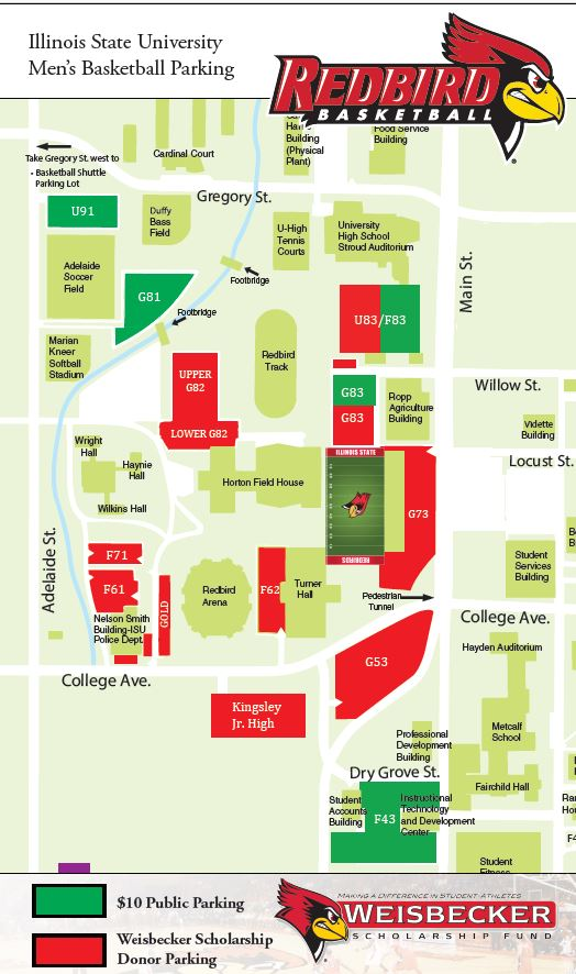 Illinois College Campus Map.Maps Office Of Parking Transportation Illinois State