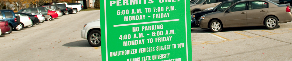 Permit Parking at Illinois State University